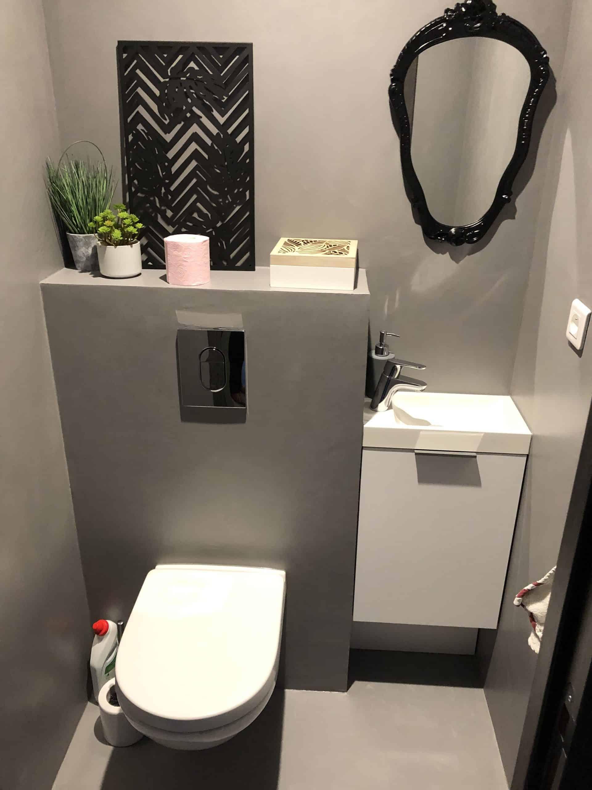 wc suspendu et lave mains